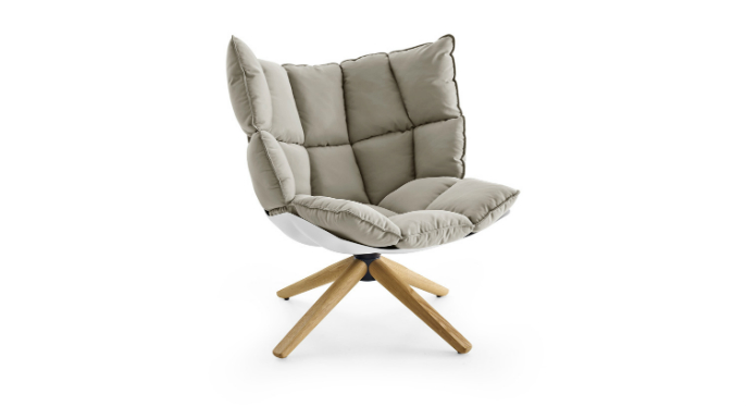 B b italia husk fauteuil b b italia husk fauteuils for Chaise confortable design